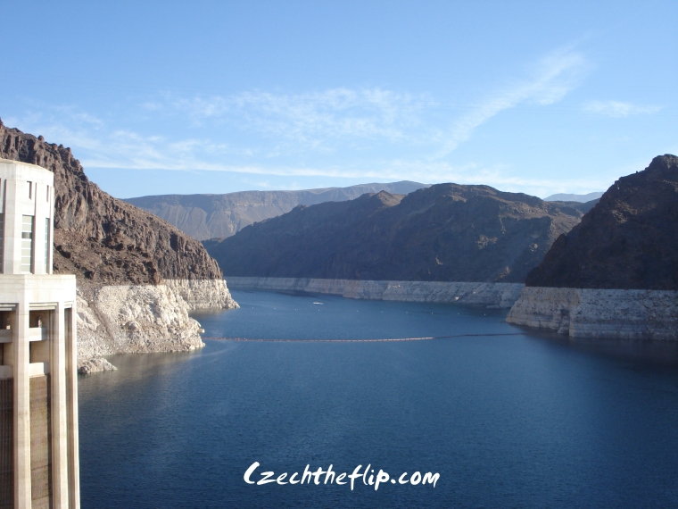The Lake Mead viewed from the Hoover Dam.