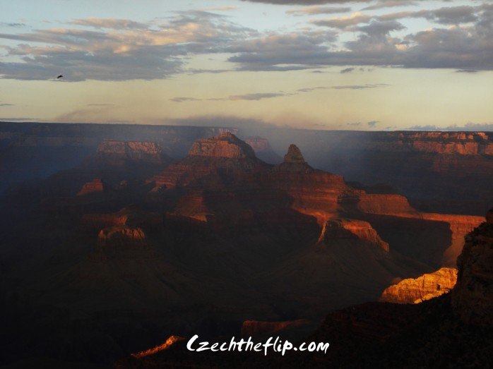 Sunset at the South Rim of the Grand Canyon